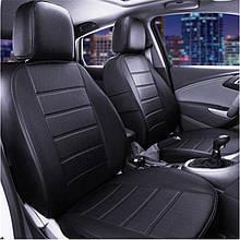 Чохли на сидіння ВАЗ Лада 2108/2109/21099) (VAZ Lada 2108/2109/21099) модельні MAX-N з екошкіри Чорний