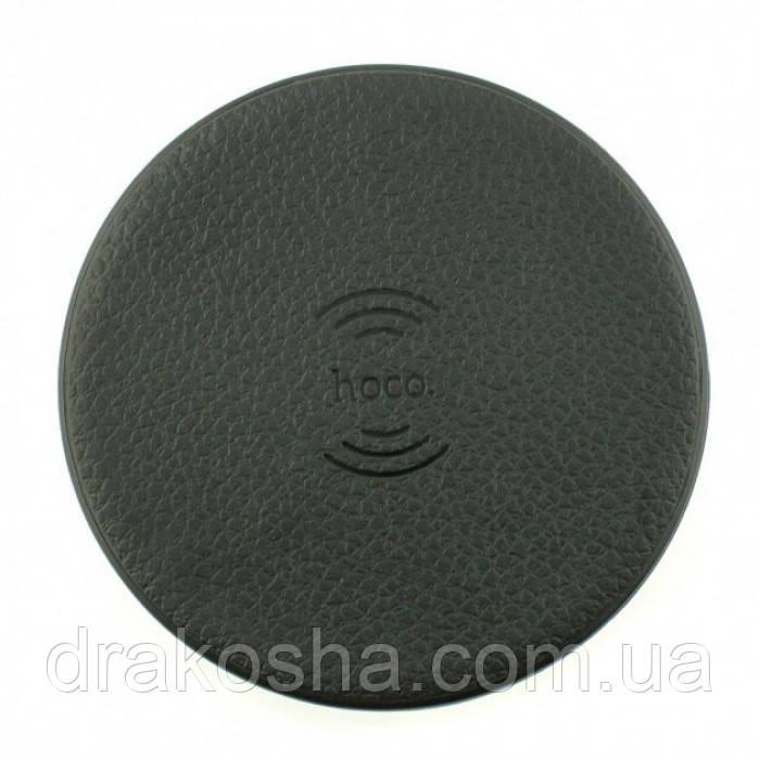 Беспроводная зарядка Hoco CW14 round 2A Wireless Charger Чёрная