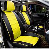 Чохли на сидіння Рено Сценік (Renault Scenic) модельні MAX-N з екошкіри, фото 6