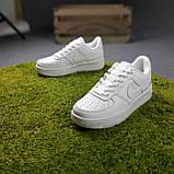 Жіночі кросівки в стилі Nike Air Force 1 Double Air білі, фото 4