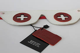 Кожаная маска для медсестрички (Натуральная кожа) M-17