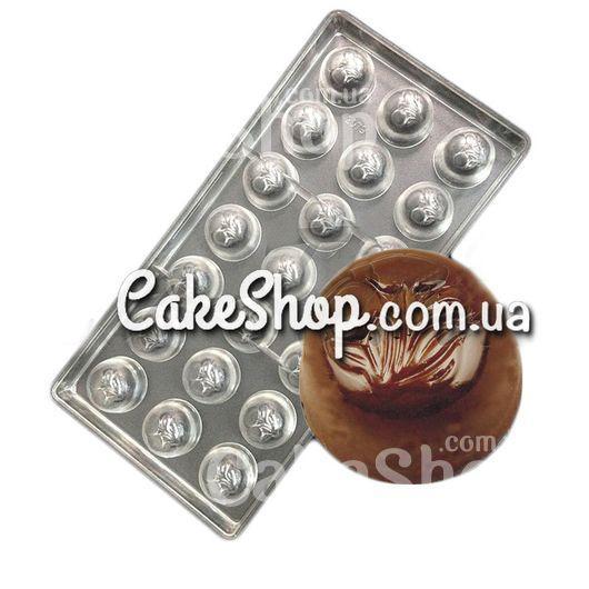 Поликарбонатная форма для конфет Вишня в шоколаде