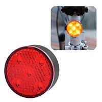 Фонарь Велосипедный Aqy-0113-5Smd, Красный, Зу Microusb, Встроенный Аккумулятор, фото 1