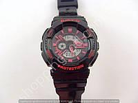 Детские часы Casio Baby G BA-111 5338 (013576) светлый дисплей розовые с золотом водонепроницаемые