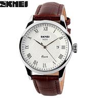 Классические часы SKMEI 9058 серебристая оправа, фото 1