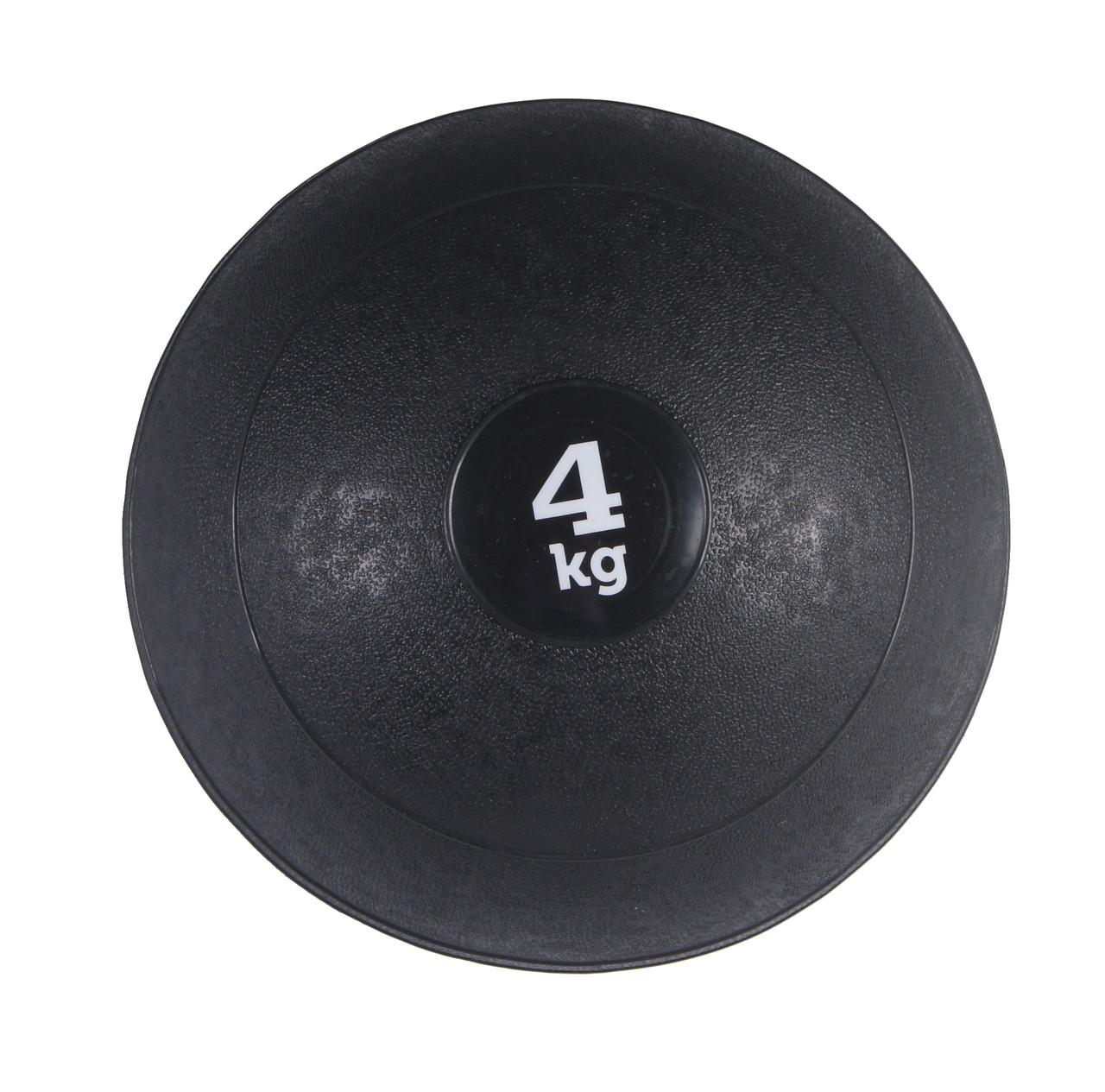 Слембол (медичний м'яч) для кроссфита SportVida Slam Ball 4 кг SV-HK0058 Black