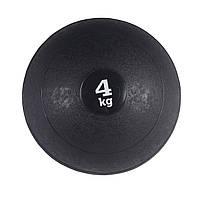 Слембол (медичний м'яч) для кроссфита SportVida Slam Ball 4 кг SV-HK0058 Black, фото 1