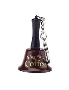 """Брелок-дзвіночок """"Ring for a Coffee"""" коричневий"""