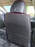Чохли на сидіння ВАЗ Лада Калина 2118 (VAZ Lada Kalina 2118) модельні MAX-N з екошкіри Чорно-червоний, фото 7