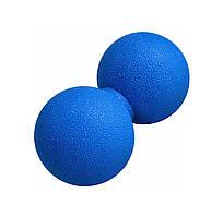 Масажний м'яч подвійний Springos Lacrosse Double Ball 6 x 12 см FA0024