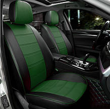 Чохли на сидіння Чері Тігго (Chery Tiggo) модельні MAX-N з екошкіри Чорно-зелений