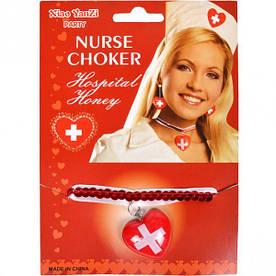 Кольє медсестри червоне