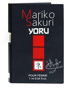 Пробник парфуми з феромонами жіночі Mariko Sakuri YORU, 1 мл