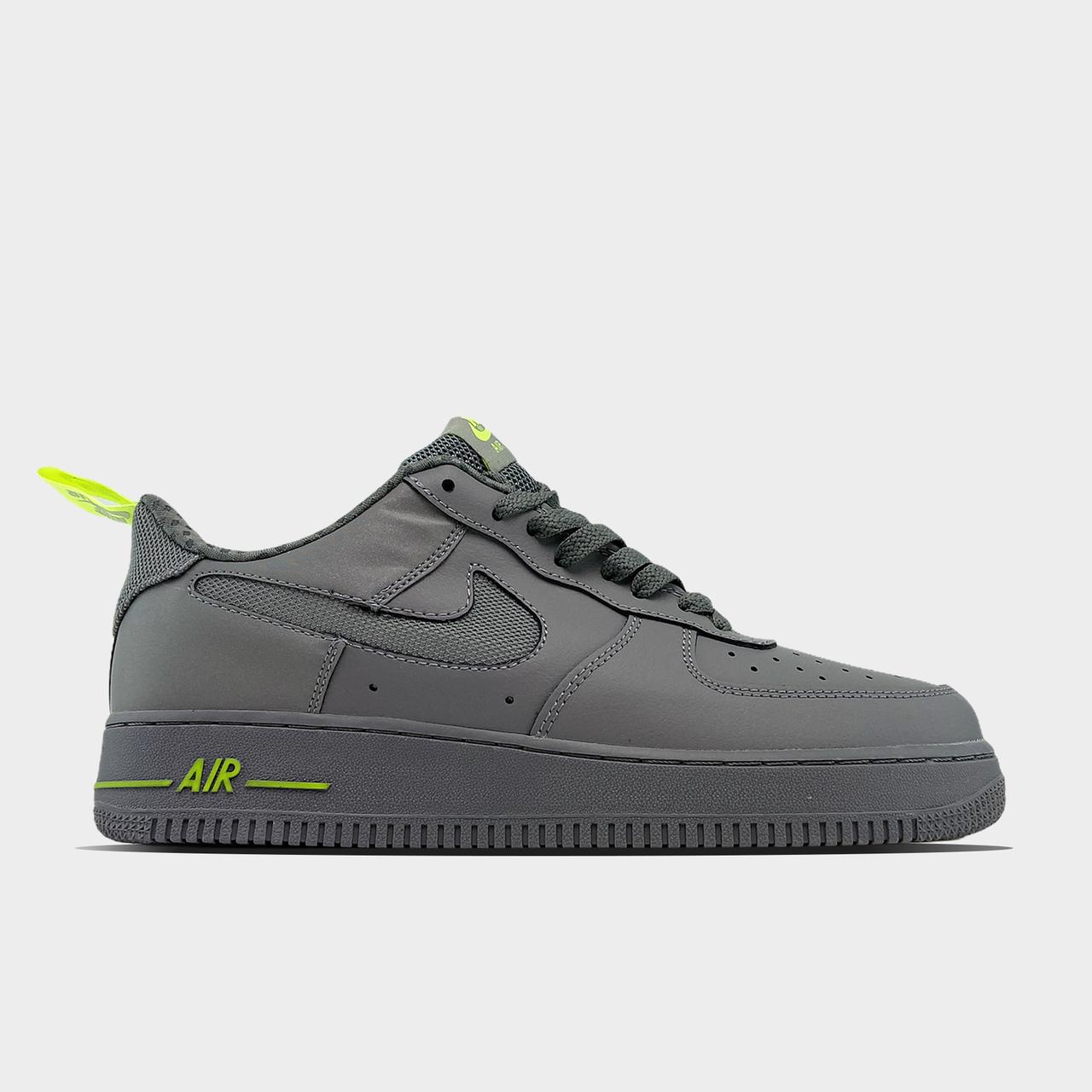 Кроссовки Nike Air Force 1 Low Gray Green мужские, серого цвета, Найк Аир Форс 42