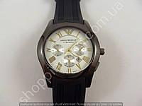 Часы Emporio Armani 8263 мужские черные с белым  копия, фото 1