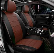 Чохли на сидіння Мітсубісі Лансер 10 (Mitsubishi Lancer 10) модельні MAX-N з екошкіри Чорно-коричневий