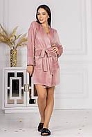 Домашний женский халат из велюра 001/02 В, фото 1