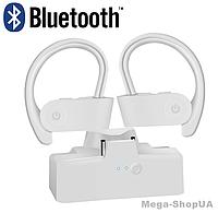 Вакуумные наушники и гарнитура беспроводные Bluetooth блютуз AS6W для телефона смартфона. Бездротові навушники
