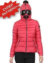 Детская куртка пуховик с очками на капюшоне для девочки AI RIDERS Италия JG101GT CD4 Розовый