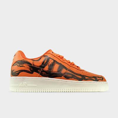 Кроссовки Nike Air Force 1 Low Skeleton Orange мужские, оранжевого цвета, Найк Аир Форс