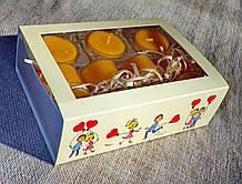 Набор 3 стеклянных подсвечников в комплекте с 11 прозрачными восковыми чайными свечами 24г для влюбленных