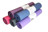 Коврик Yoga mat 8-80 для йоги, фитнеса, пилатеса, растяжки
