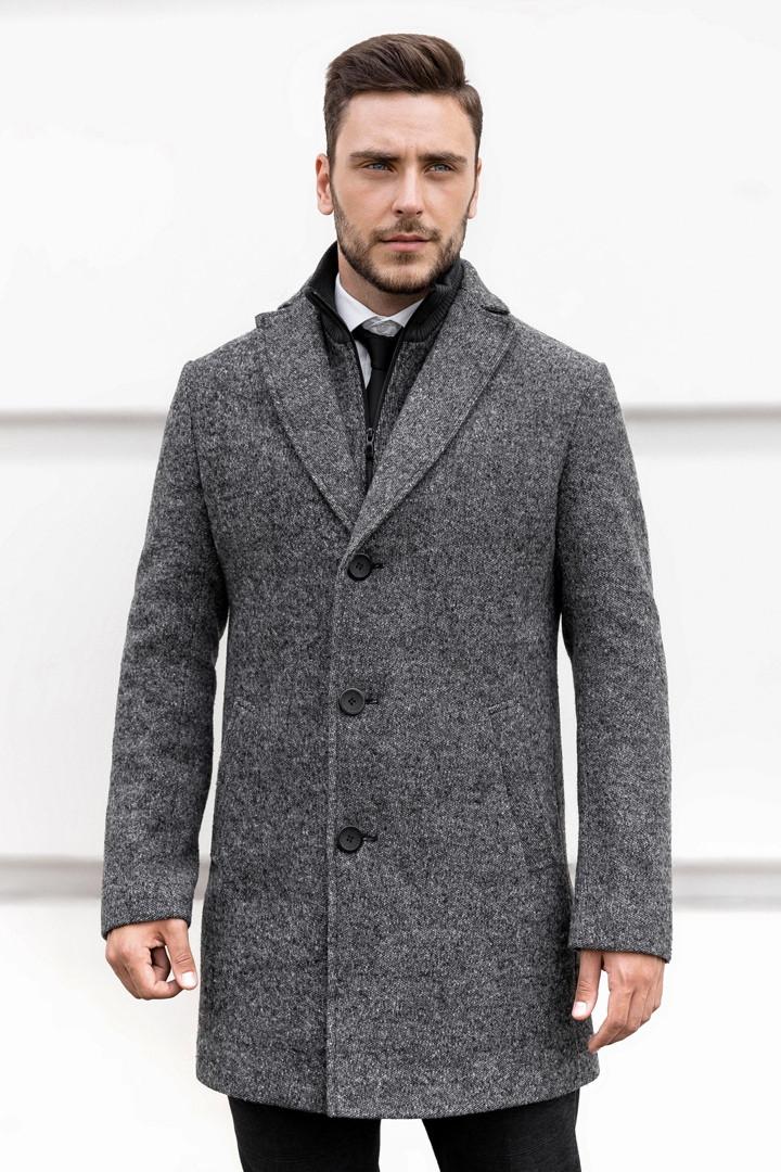 Мужское короткое классическое пальто Asos стильное, турецкое качество, пальто демисезонное, цвет серый