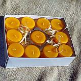 Набор 3 стеклянных подсвечников в комплекте с 11 прозрачными восковыми чайными свечами 24г для влюбленных, фото 10