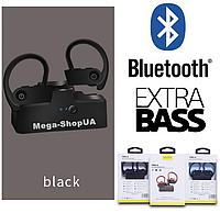 Вакуумные наушники и гарнитура беспроводные Bluetooth блютуз AS6B для телефона смартфона. Бездротові навушники