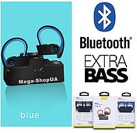 Вакуумные наушники и гарнитура беспроводные Bluetooth блютуз AS6P для телефона смартфона. Бездротові навушники
