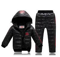 Комплект зимний пуховой Adidas Адидас куртка и штаны