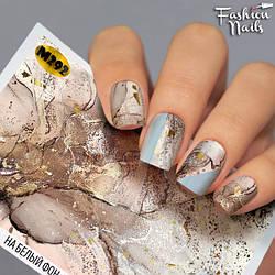 Слайдер-дизайн для дизайну нігтів - водні наклейки Мрамор