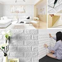 Самоклеючі 3Д панелі під Цеглу 700*770*5мм 3d миються звукоізоляційні вологостійкі для спальні ванної