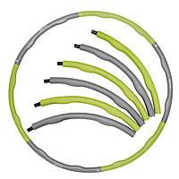 Обруч массажный Hula Hoop SportVida 100 см 1.2 кг SV-HK0339 Grey/Green