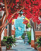 Картина по Номерам Идейка КПН-2199 Лестница к Морю 50x40 см