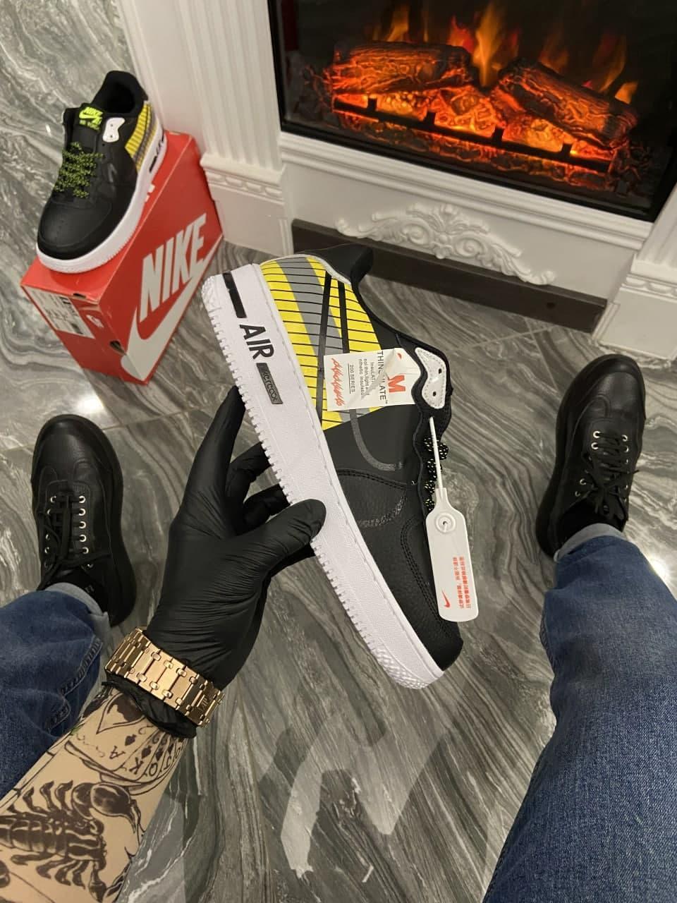 Кроссовки Nike Air Force 1 React LX Release Information мужские, черного цвета, Найк Аир Форс 41