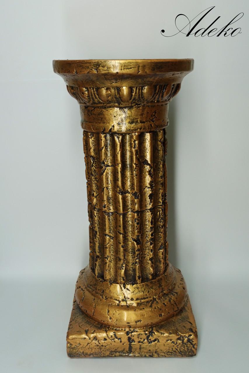 Декор для інтер'єру Антична колона бронза 50 см