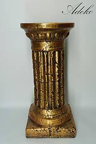 Декор для интерьера Античная колонна бронза 46 см