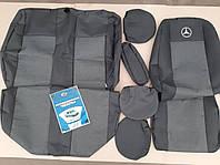 Чехлы на Мерседес Спринтер (1+2) 1995-2006 / авто чехлы Mercedes Sprinter (1+2) (стандарт)