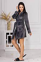 Домашній жіночий халат з велюру 001/01 В