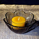 Набор 2 стеклянных подсвечников с 6 прозрачными восковыми чайными свечами 18г в Белой Коробке, фото 9