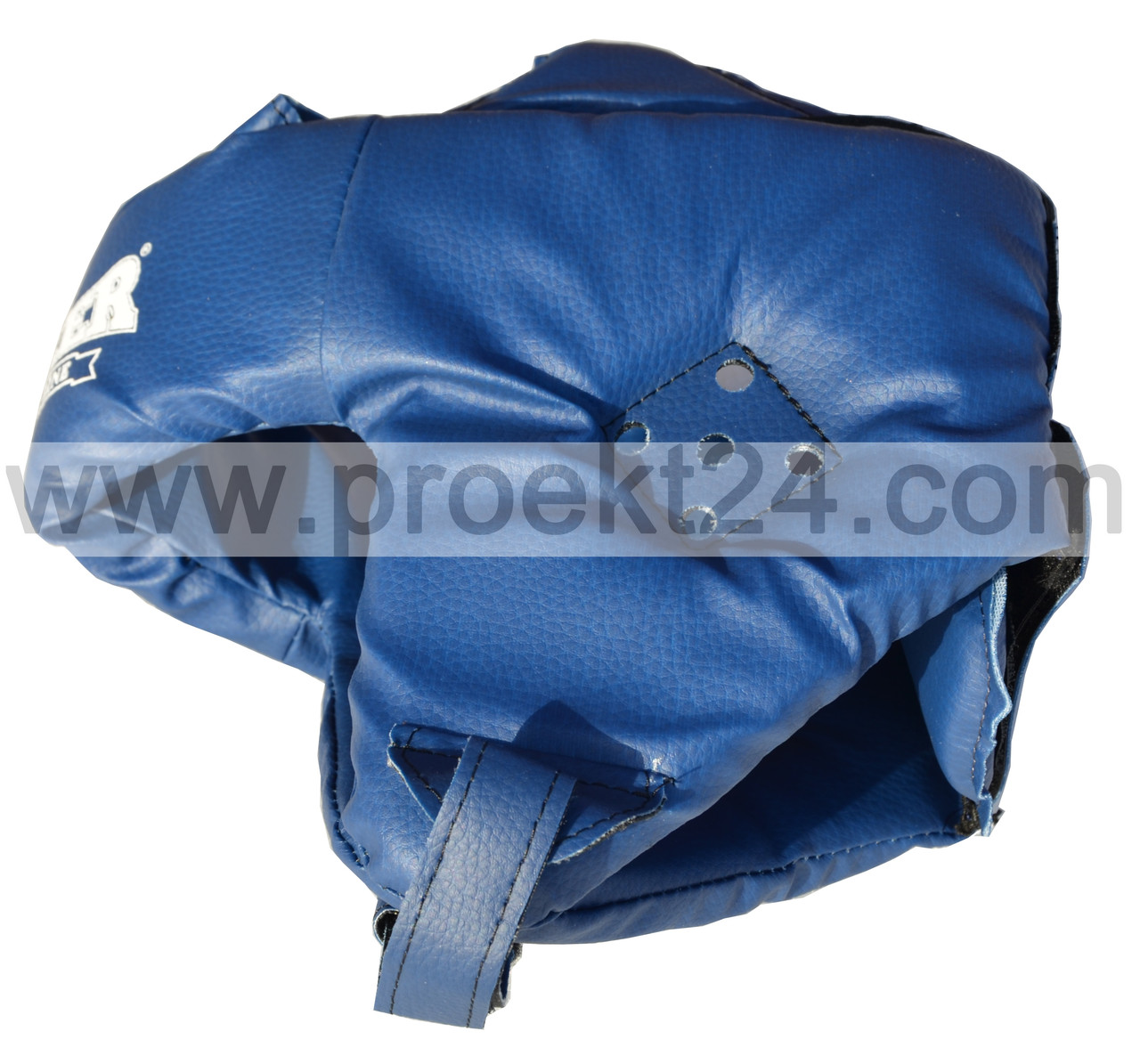 Детский шлем каратэ кожа М, синий BOXER