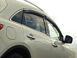 Дефлекторы окон (ветровики) Infiniti EX35/37 2007 -> С Хром Молдингом, фото 2