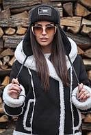 Женская шапка-ушанка стёганая