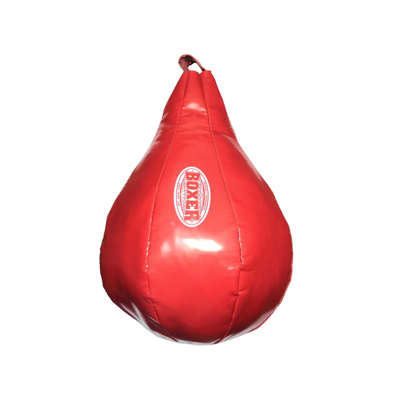 Груша набивная каплевидная подвесная BOXER  капля большая ПВХ красная