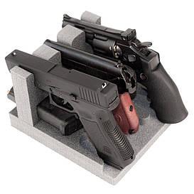 Ложемент/Подставка для пистолетов GR3 на 3 пистолета и на 3 магазина