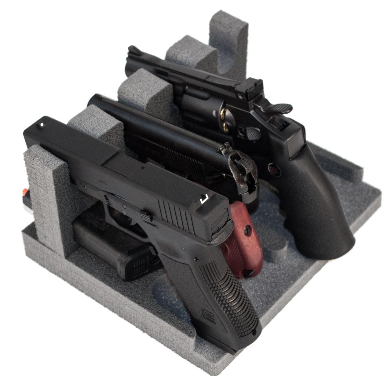 Ложемент/Подставка для пистолетов GR4 на 4 пистолета и на 4 магазина