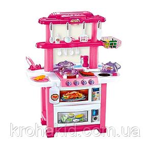 Детская кухня для девочки 768 A/B Течет вода, пар 2 цвета, на батарейках, в коробке, фото 2