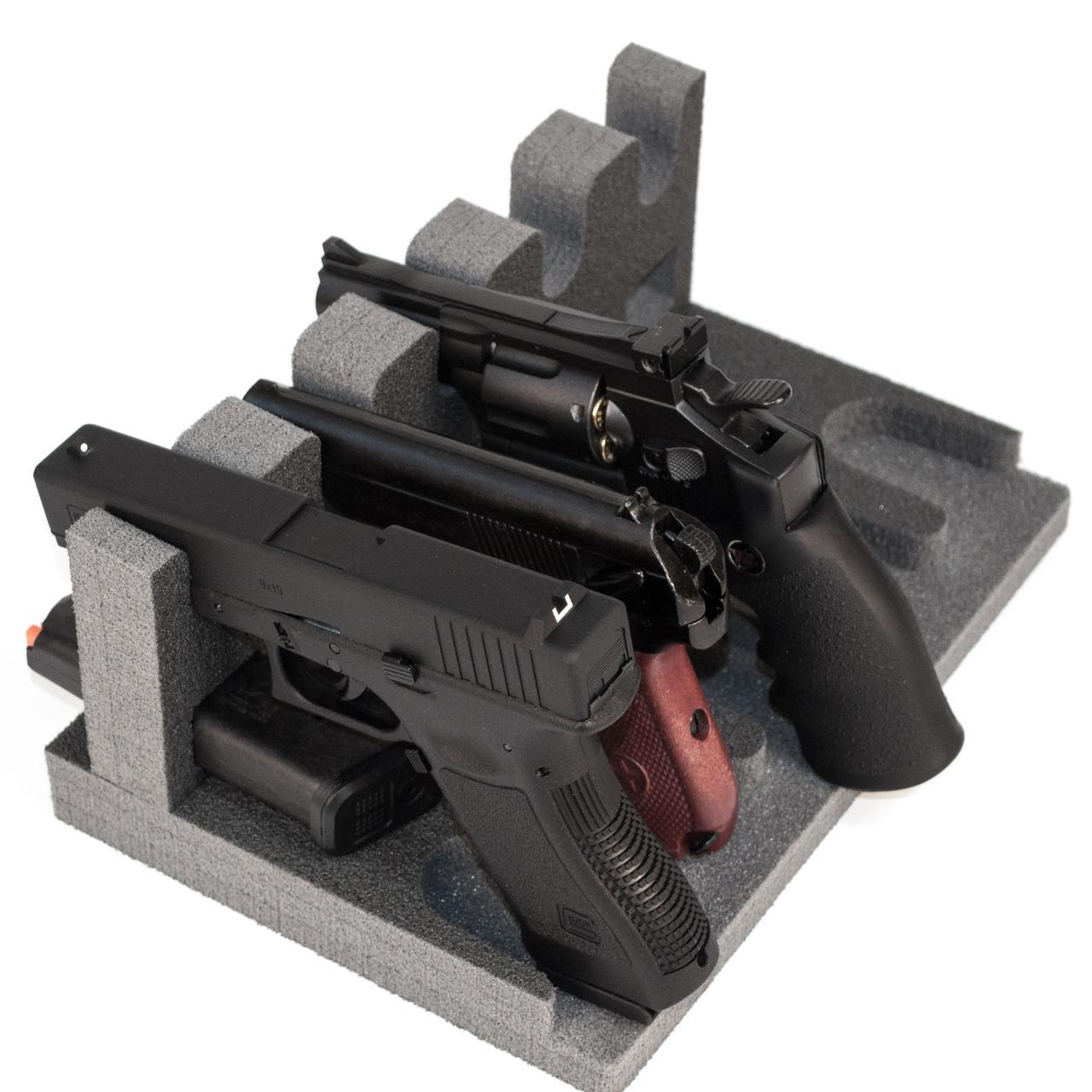 Ложемент/Подставка для пистолетов GR5 на 5 пистолетов и на 5 магазинов
