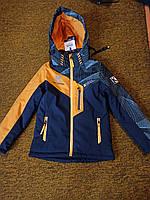 Куртка демисезонная ДЕТСКАЯ WKAS с цветными вставками рост 104-128